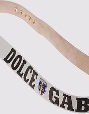 DOLCE & GABBANA GÜRTEL 110CM belt leather white d&g 110 cm dg boxe italia logo