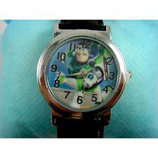 NEW Toy Story Buzz Lightyear Boy Girl Child Fashion Wrist Watch Wristwatch + Pin