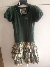 Vestito vestitino verde quadri s fix design fixdesign no denny fashion green liu
