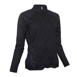 Adidas Women's TMAG Golf Performance Black Full-Zip Rangewear Jacket B81897