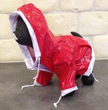 IMPERMEABLE CIRE ROUGE BLANC Taille Dos S 22cm pour CHIEN VETEMENT