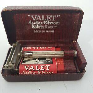 Vintage Original Valet Auto-Strop Safety Razor in case Antique shaving