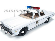 AUTOWORLD AWSS107 DUKES OF HAZZARD 1975 DODGE MONACO ROSCO PATROL POLICE 1/18