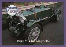 1933 MG K3 Magnette, Dream Machines Cars, Trading Card, Auto - Not Postcard