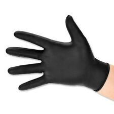 2 x Black Heavy Duty Disposable Nitrile PF Gloves - Medium - Box of 100