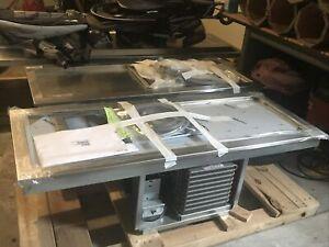 """Delfield N8256-STP 56"""" Drop-In Frost Top, 2 Sheet Pan Holder"""