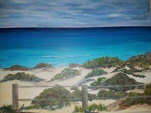Triggs Beach WA - On canvas ready to hang, Original painting-Acrylics 45cmx35cm