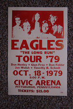 The Eagles concert tour poster 1979 Pittsburgh Pennsylvania The Long Run