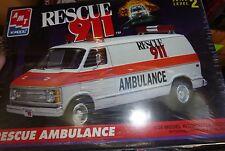 AMT DODGE VAN RESCUE 911 1/25 Model Car Mountain KIT RESCUE AMBULANCE FS