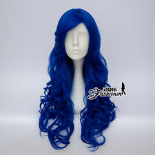 70CM Lolita Party Hair Royal Blue Curly Heat Resistant Clearance Cosplay Wig