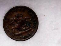 1854 1/2 Penny Bank of Upper Canada Token - Ontario