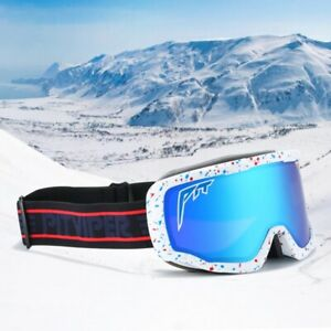 High-end Sports Winter Goggles Men Double Layers Anti-Fog Snowboard Glasses