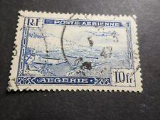 ALGERIE, 1946/47, timbre aérien 2, poste aerienne AVION, oblitéré, VF used stamp