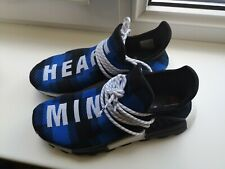 adidas x BBC Pharrell Williams NMD Hu Trainers UK Size 9 Blue Plaid