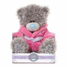"""Me to You 9"""" Plush & Pink Dressing Gown On Gift Box - Tatty Teddy Bear"""