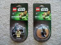 LEGO Star Wars - Rare - Obi-Wan Kenobi & Boba Fett Magnets - 850640 850643 - New
