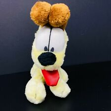 "Odie from Garfield Plush Dog Tan Brown Red Tongue 9"" Stuffed Animal"