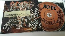 AC DC Signed AC/DC Autograph Brian Johnson Angus Young Phil Rudd Malcolm COA