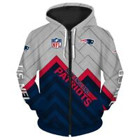 NEW ENGLAND PATRIOTS SUPER BOWL LIII Champions Zip Hoodie Pullover S-5XL NFL NEW