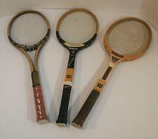 Vintage wood tennis racquets Ksm, Earl Buchholtz, Jr. and Stan Smith