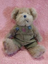 """Boyds Bears Tommy Leafowitz Tj's Best Dressed in overalls 8"""" Brown Teddy Bear"""
