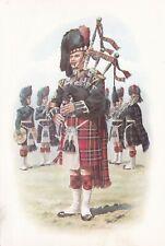 Pipe Major Black Watch 1975 Postcard used VGC