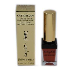 YSL BABY DOLL KISS & BLUSH LIPS & CHEEKS SOFT MATTE COLOUR 10ML #7 NIB