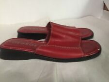 George Lindsey Red Women's Leather Sandals Size 7.5