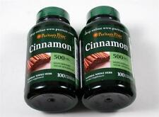2 Bottles CINNAMON BARK Cinnamomum Cassia 200 Caps 500 1000 mg Sugar Metabolism