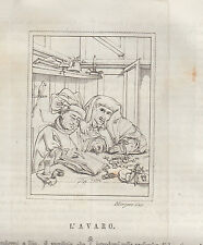 L'avaro di Quintino Metsis rame 1839