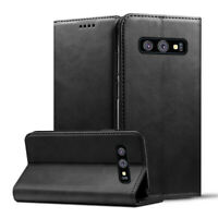 For Samsung Galaxy S10 Plus S10e PU Leather Wallet Case Flip Stand Phone Cover
