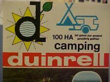 DUINRELL Wassenaar-Holland Camping Travel Brochure 1971 Europe