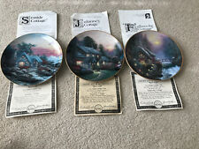 Branford Exchange Thomas Kinkade Enchanted Cottages Collector Plates Lot Of 3