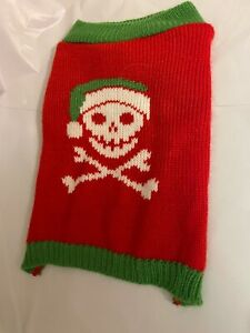 Bret Michaels Pet Rock Dog Sweater Knit Skull & Crossbones Holiday Design 9 inch