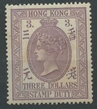 Hong Kong F5 1902 $3 dull mauve