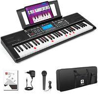Vangoa VGK6200 Full Size 61 Keys Light Up Electronic Keyboard Digital Piano