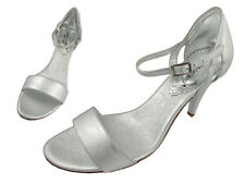 Giorgia Galassi Peep Toe Silver Shoes, Size 9, Made in Italy
