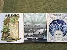 Three World Scripophily Auction Catalogs - Spink 2011-2012