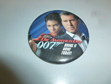 James Bond Pin Back 007 Die Another Day Movie Promotional Video Store Button