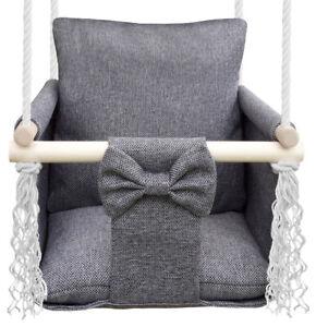Balançoire pour enfants Swing Bébé, de bois, pour jardin, pour intérieur - HUGO