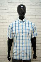 TOMMY HILFIGER Camicia Taglia M Uomo Polo Maglia a Quadri Shirt Men's Herrenhemd