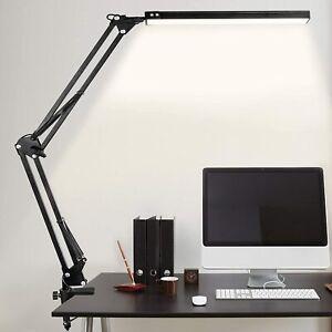 Lampe de Bureau LED, 10W Table Architecte Pliable avec Clamp, Bras...