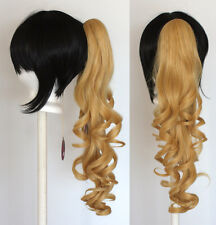23'' Curly Pony Tail Clip Butterscotch Blonde Cosplay Wig Clip Only NEW