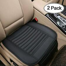 US 2pc Universal Car Seat Cushion Cover PU Leather Breathable Protector Pad Mat