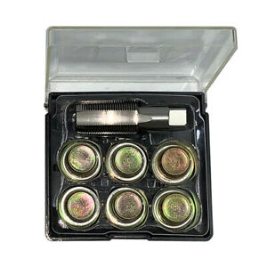 M13 x 1.25mm 7Pcs Oil Pan Thread Repair Set Automotive Oil Drain Tool W4D0