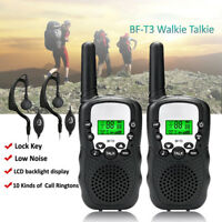 2x BAOFENG T-3 Walkie Talkie Long Rang 2 Way radio 400-470MHZ With Free Earpie T
