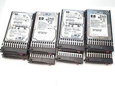 "LOT X8 HP 2.5"" 15K 146GB Dual Port SAS Spare 504334-001 504062-B21 INCL CADDY"