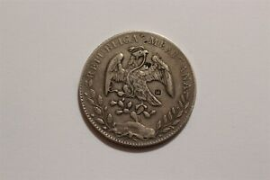 MEXICO 8 REALES 1892 CULIACAN TRAVELLER'S COINS IN EXTENSIVE CHOP MARKS B35 #841