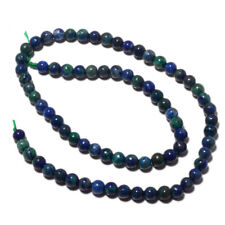 Natural Azurite Malachite Beads 6mm Round Beads 15 Inches Strand 75 Pieces MM46