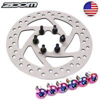 ZOOM 140/160/180/203mm MTB Bike Disc Brake Rotor 6 Bolts Rotor T25 Screws 12PCS